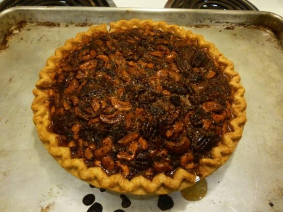 Maple Bacon Bourbon Tabasco Cashew Pecan Pie | Foxfur Amused